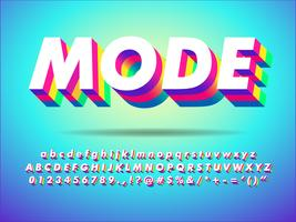 Colorful Extrude Text Effect