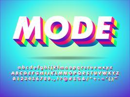 Efeito de texto colorido de extrusão