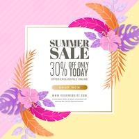 Vector Summer Banner Template