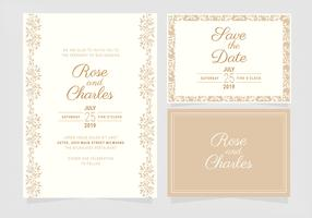 Vector Wedding Invitation Template