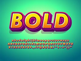 3d Cartoon Alphabet And Friendly Bold Font