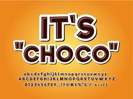 Chocolate Product Logo Typeface vector