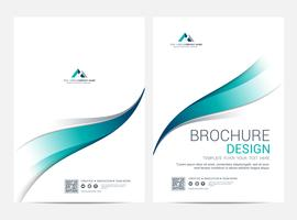 Brochure or flyer design template background vector