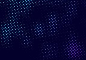 Abstract halftone pattern motion effect with fading dot gradation blue and purple on dark background and texture vector