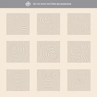 Set of dots pattern wave background, Rough texture.