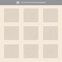 Reeks van de golfachtergrond van het puntenpatroon, ruwe textuur.