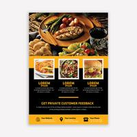 Food brochure vector