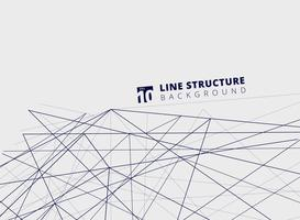 Abstract overlap lines structure perspective on white background. vector