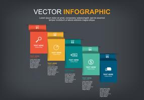 infographic elements design with 5 options