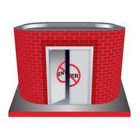 Edifício utilitário de tijolo vermelho