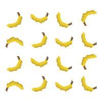 Patrón Pixel Banana