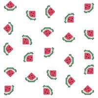 Pixel Watermelon Pattern