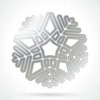 Icono de copo de nieve de plata