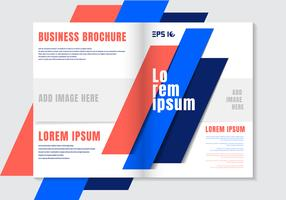 Brochure design template geometric vivid color element background. Business cover modern style.