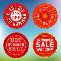 Summer sale stamps, insignias