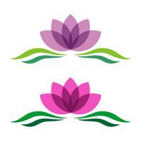 Lotus oder Lily Flower dekorative Logo Vorlage
