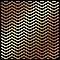 Abstract gold color chevron pattern on black color background and texture.