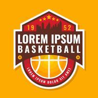 Insignia de baloncesto de calidad premium vector