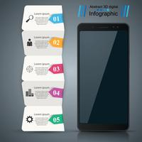 Digital gadget, smartphone. Business infographic.