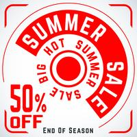 Cartel de venta redondo de verano