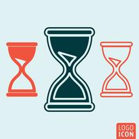 Hourglass icon isolated