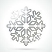 Zilveren sneeuwvlok pictogram