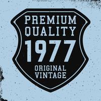 Shield vintage print
