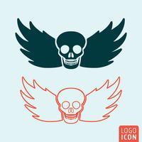 Icono de cráneo aislado