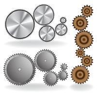Set of different gears