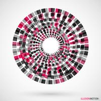 Rotating cubes logo vector