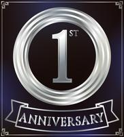 Anniversary ring silver