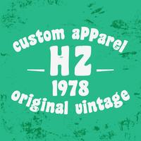 Custom vintage stamp vector