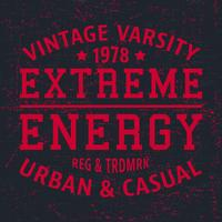 Extreme energy vintage stamp vector