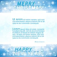 Merry Christmas New Year Background vector