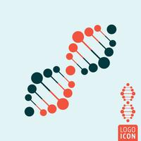 DNA-pictogram geïsoleerd vector