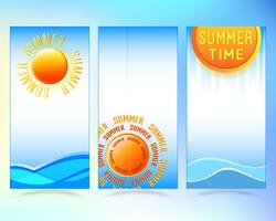 Summer sale brochure or flyer cover template
