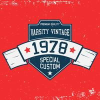 Vintage t-shirt sjabloon