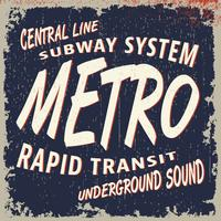 timbro vintage della metropolitana