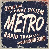 Sello vintage metro