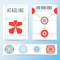 Abstrakt omslag broschyr mall