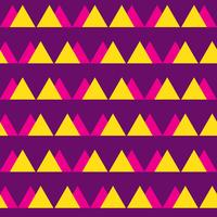 Seamless vintage abstract pattern with triangles in the style of 80 s. Fashion background in Memphis.
