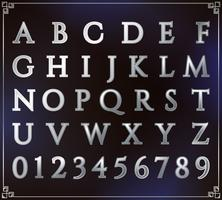 Silberner Alphabet-Satz
