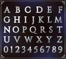 Conjunto de alfabeto de plata