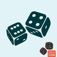 Dice icon isolated