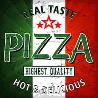 Poster vintage de pizza