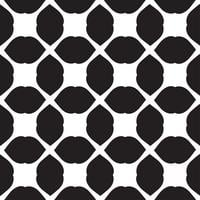 Telha sem costura padrão preto e branco de vetor universal.
