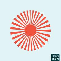 Sun icon template vector