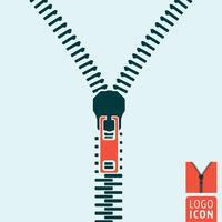 Zipper icon isolated