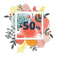 Sale poster with percent discount