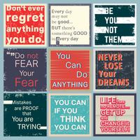 Quote motivational set vector
